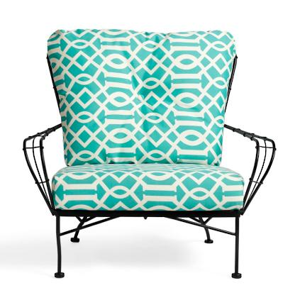 Hudson Outdoor Metal Chair With Cushion