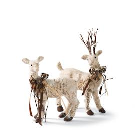 Frosted Reindeer Figures