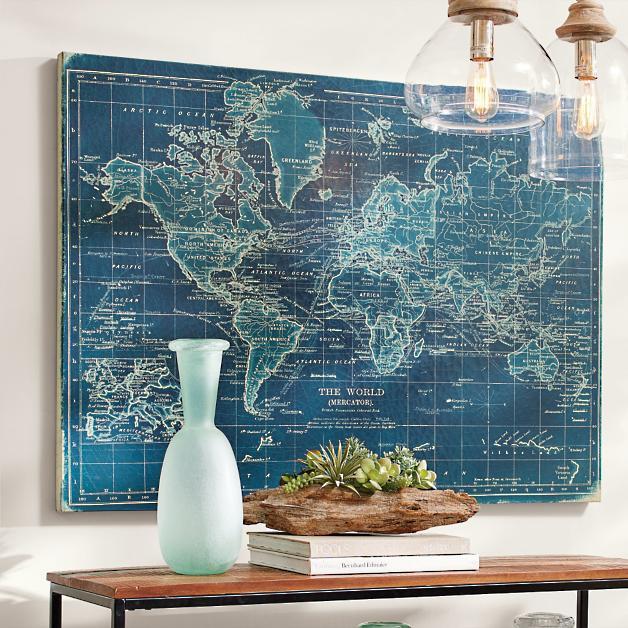Azure World Map Grandin Road
