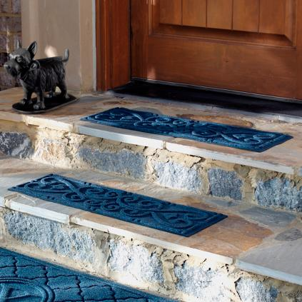 Set Of Four Scroll Stair Treads