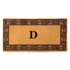 Greek Key Monogrammed Door Mat