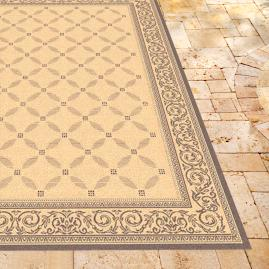 Courtyard Outdoor Rug in Natural & Brown