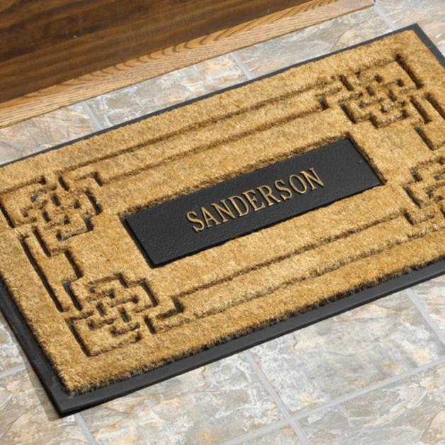 Whitehall Coir Knot Doormat Mat Personalized Cast: Personalized Coir Knot Door Mat