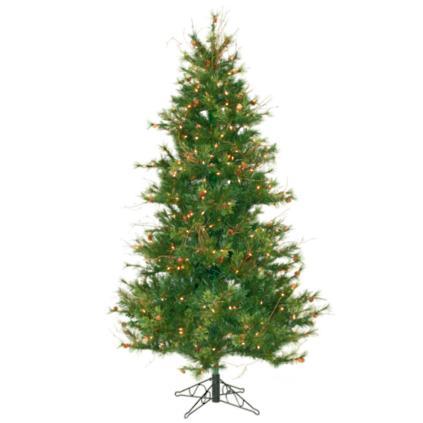 mixed country pine pre lit slim christmas tree - Pre Lit Slim Christmas Tree