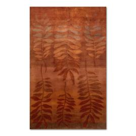 Karela Fern Wool Area Rug in Saffron