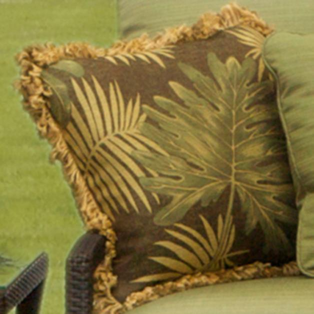 Outdoor Throw Pillows With Bamboo Gold Fringe Grandin Road