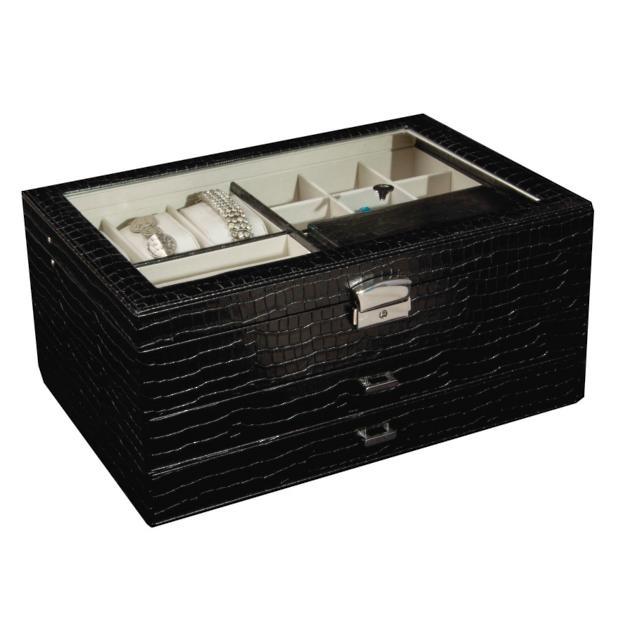 Enjoyable Alana Glass Top Locking Jewelry Box Grandin Road Pdpeps Interior Chair Design Pdpepsorg