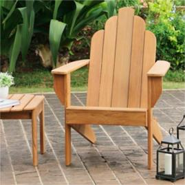 All-natural Teak Adirondack Chair