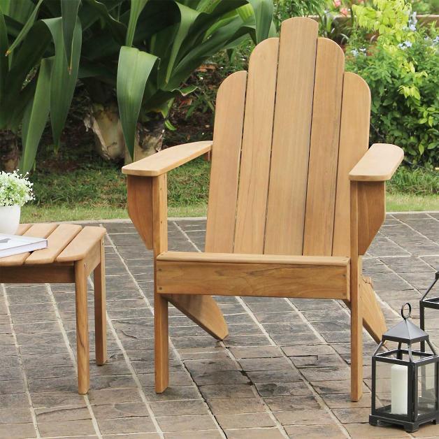 All Natural Teak Adirondack Chair
