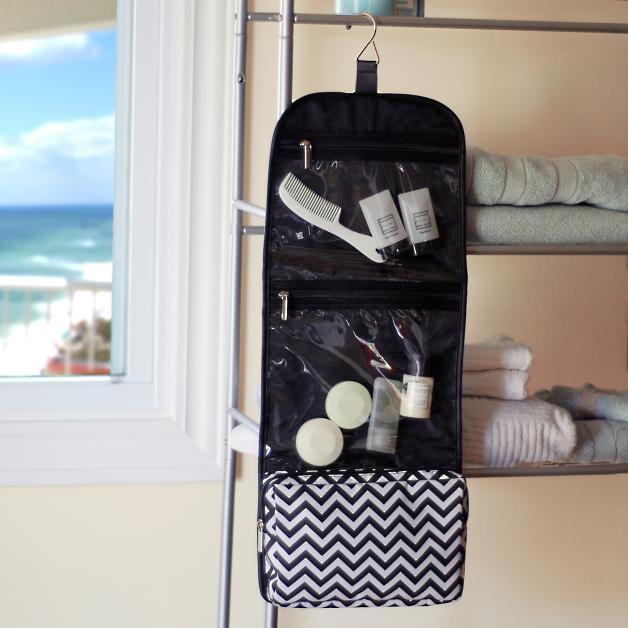 Personalized Chevron Hanging Cosmetic Bag Grandin Road