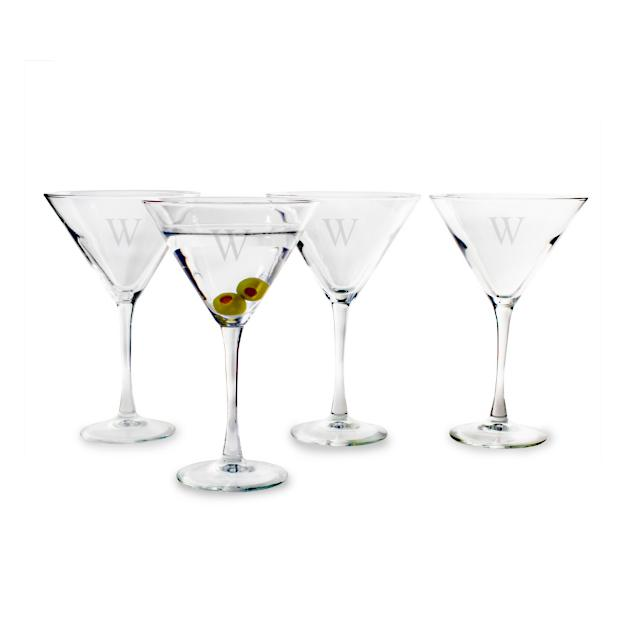 Personalized cocktail glasses Bar Set Of Four Personalized Martini Glasses Grandin Road Set Of Four Personalized Martini Glasses Grandin Road