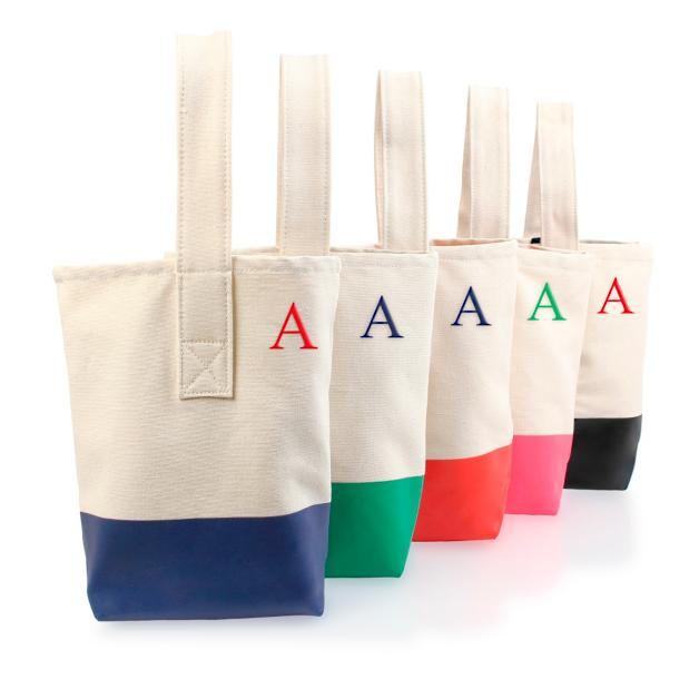 Personalized Color Dipped Wine Tote   Grandin Road 4ef19a6e96