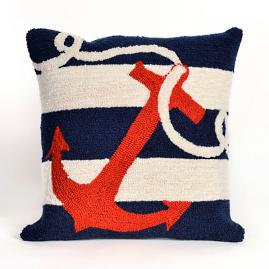 Anchor's Away Indoor/Outdoor Throw Pillow