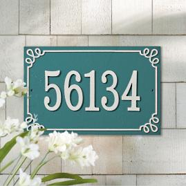 Pemberley Single Rectangle Address Plaque