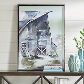 Hillside Barn Wall Art II
