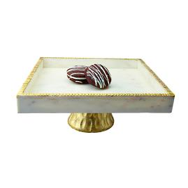 Square Marble Cake Stand