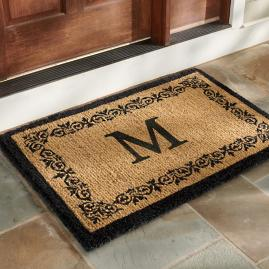 Acanthus Monogram Door Mat