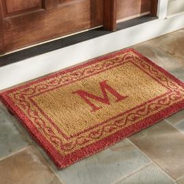 Red Ivy Monogram Door Mat