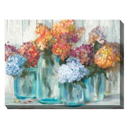 Canvas Wall Art Mason Jar Vases