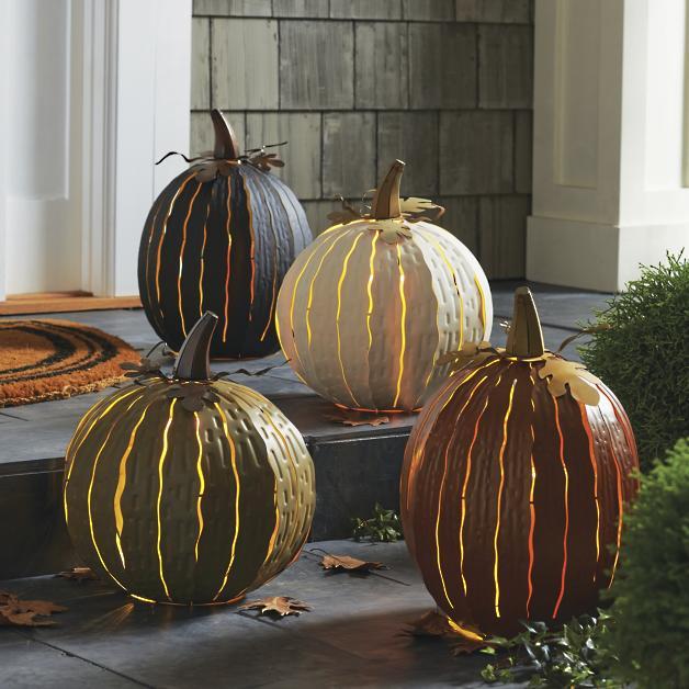 pumpkin luminaries outdoor halloween decor