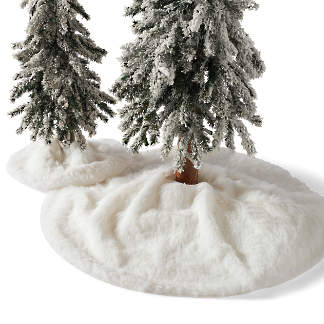 faux fur tree collar - Christmas Ribbon Decorations