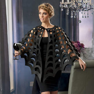 laser cut spiderweb cape