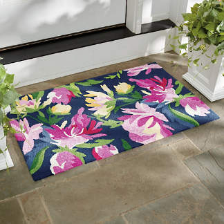 Watercolor Fl Outdoor Mat
