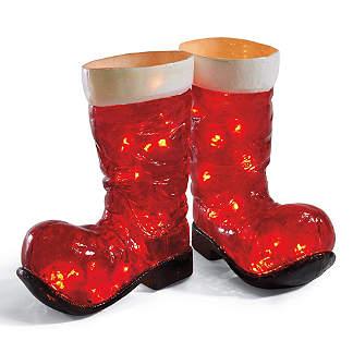 Illuminated Santa Boots