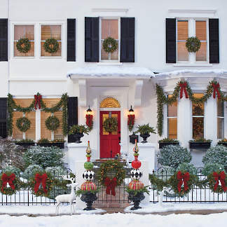madison fraser cordless greenery collection - Where To Find Outdoor Christmas Decorations