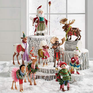 fa la la christmas figures - Indoor Christmas Reindeer Decorations