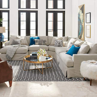 Ava Sectional Slipcovered Seating Collection