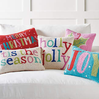 merry bright hook pillows