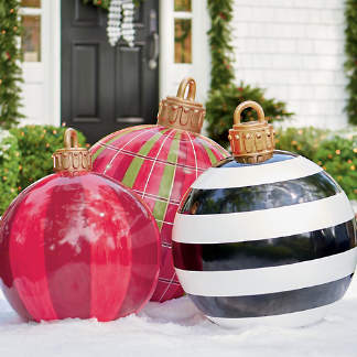 oversized yard ornaments - Unique Outdoor Christmas Decorations