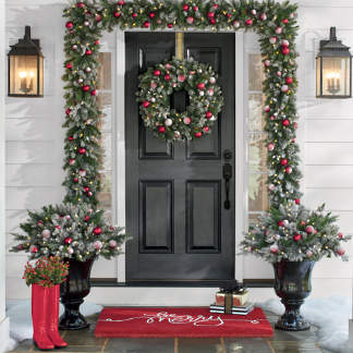 let it snow greenery collection - Twas The Night Before Christmas Decorating Ideas