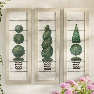 Topiary Outdoor Wall Decor