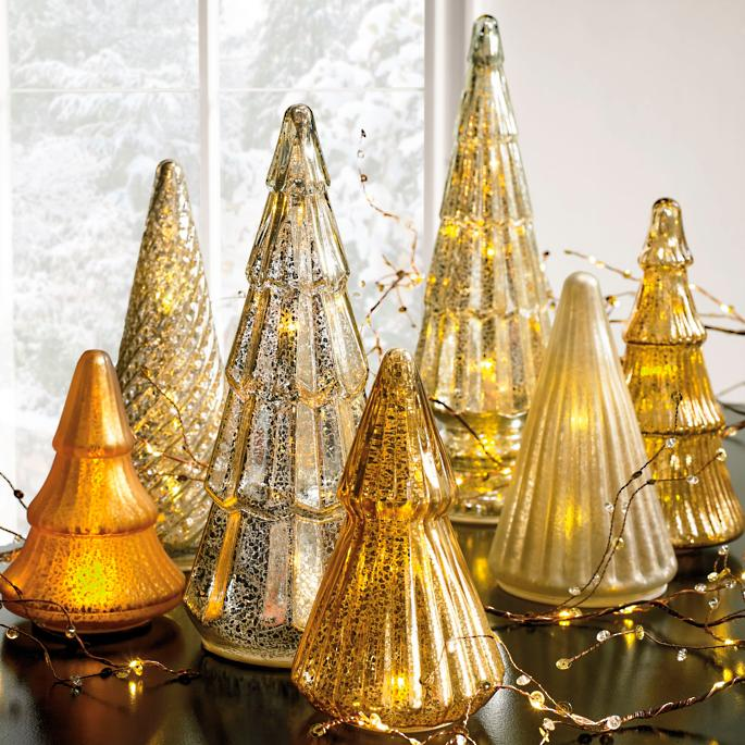 separation shoes 42a69 a7927 Mercury Glass LED Tree Collection