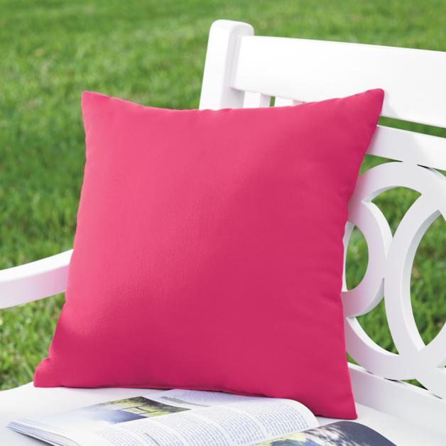 Hot Pink Outdoor Throw Pillow