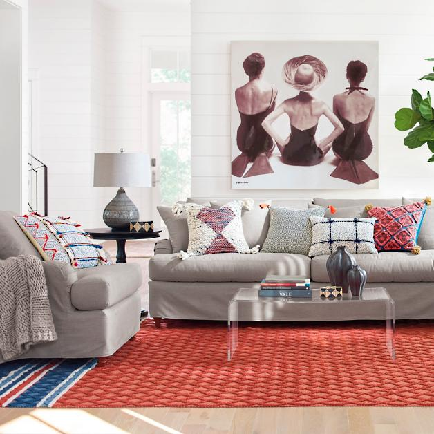 Alfie Slipcovered Seating Collection Grandin Road