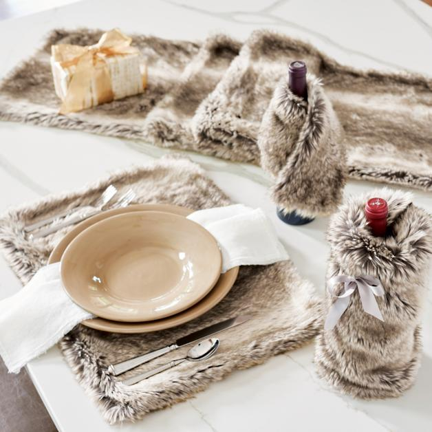 Faux Fur Tabletop Collection   Grandin Road f8dd8137f5