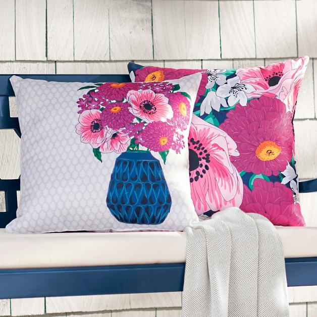 Coralia Outdoor Pillow Collection Grandin Road