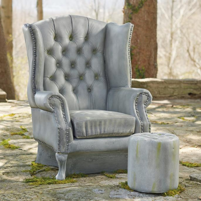 Marvelous Outdoor Resin Club Chair And Ottoman Grandin Road Cjindustries Chair Design For Home Cjindustriesco