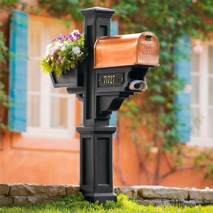 Post Mailbox Flower Box And Newspaper Holder