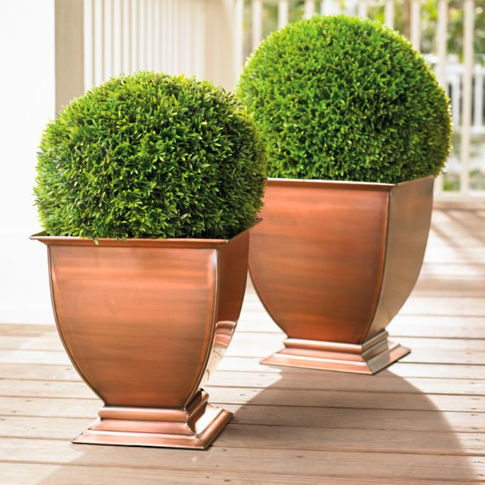 Copper Footed Outdoor Planters Grandin Road