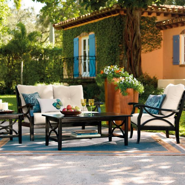 Promenade Loveseat - Promenade Outdoor Furniture Collection Grandin Road