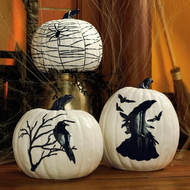 Strange Martha Stewart Black And White Ceramic Pumpkins Grandin Road Lamtechconsult Wood Chair Design Ideas Lamtechconsultcom