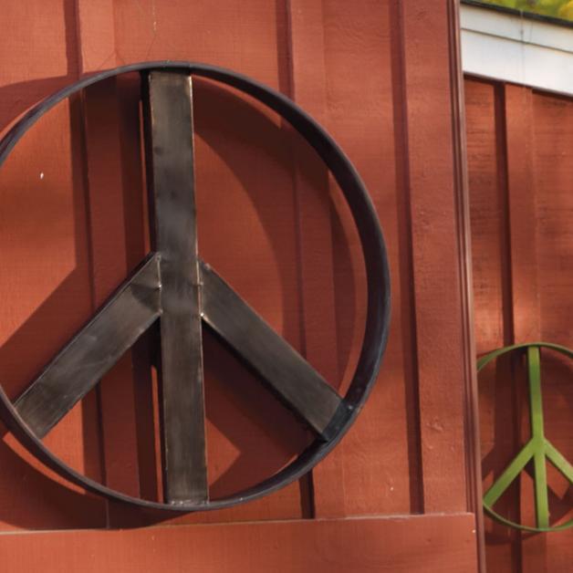 Peace Sign Wall Art Grandin Road