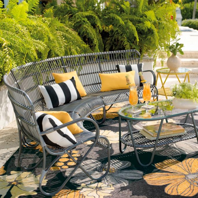 Rizza Three-piece Set - Rizza Outdoor Sectional Furniture Grandin Road