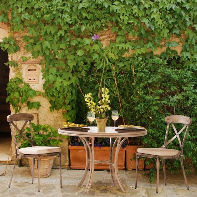Bordeaux Metal Cafe Table